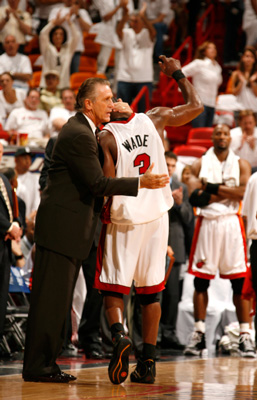 Dwyane Wade and Pat Riley.
